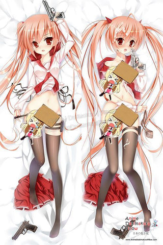 New Aria Kanzaki - Aria the Scarlet Ammo Anime Dakimakura Japanese Hugging Body Pillow Cover H3035 - Anime Dakimakura Pillow Shop | Fast, Free Shipping, Dakimakura Pillow & Cover shop, pillow For sale, Dakimakura Japan Store, Buy Custom Hugging Pillow Cover - 1
