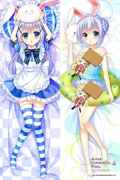 New Chino Kafuu - Is the Order Rabbit Anime Dakimakura Japanese Hugging Body Pillow Cover H3050
