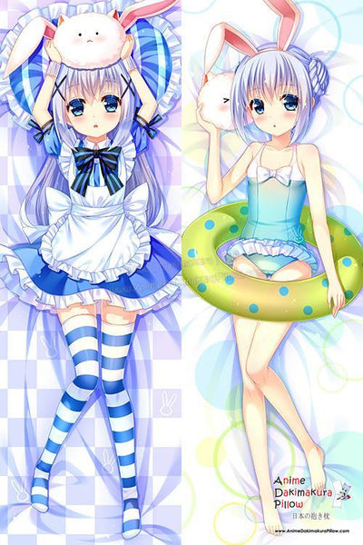 New Chino Kafuu - Is the Order Rabbit Anime Dakimakura Japanese Hugging Body Pillow Cover H3051