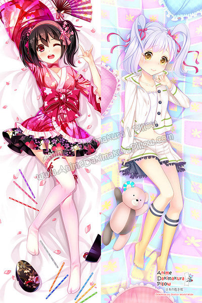 New Kurumi Kumamakura  - Myriad Colors Phantom World and Nico - Love Live! Anime Dakimakura Japanese Hugging Body Pillow Cover H3158 H3156 - Anime Dakimakura Pillow Shop | Fast, Free Shipping, Dakimakura Pillow & Cover shop, pillow For sale, Dakimakura Japan Store, Buy Custom Hugging Pillow Cover - 1