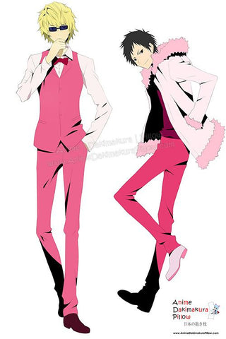 New Durarara Male Anime Dakimakura Japanese Hugging Body Pillow Cover H3173 - Anime Dakimakura Pillow Shop | Fast, Free Shipping, Dakimakura Pillow & Cover shop, pillow For sale, Dakimakura Japan Store, Buy Custom Hugging Pillow Cover - 1