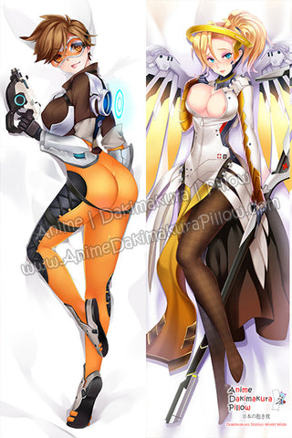 New Tracer andMercy - Overwatch Anime Dakimakura Japanese Hugging Body Pillow Cover H3247 H3248 - Anime Dakimakura Pillow Shop | Fast, Free Shipping, Dakimakura Pillow & Cover shop, pillow For sale, Dakimakura Japan Store, Buy Custom Hugging Pillow Cover - 1
