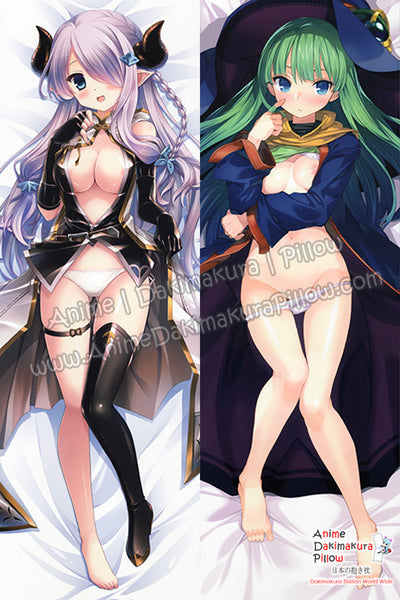 New Sexy Lavander Braided Hair and Rance Masou Shizuka - Collapse of Zeth Anime Dakimakura Japanese Hugging Body Pillow Cover H3261 H3262