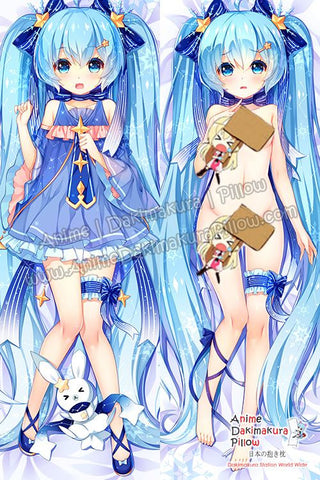 New Hatsune Miku - Vocaloid Anime Dakimakura Japanese Hugging Body Pillow Cover H3344-B