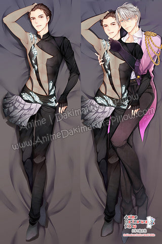 New-Viktor-Nikiforov-and-Yuri-Katsuki-Yuri-on-Ice!!!-Male-Anime-Dakimakura-Japanese-Hugging-Body-Pillow-Cover-H3364-B