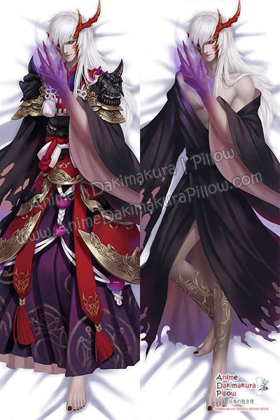 New Onmyoji Game Male Anime Dakimakura Japanese Hugging Body Pillow Cover H3371-C