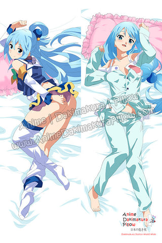 New Aqua - Konosuba Anime Dakimakura Japanese Hugging Body Pillow Cover H3376