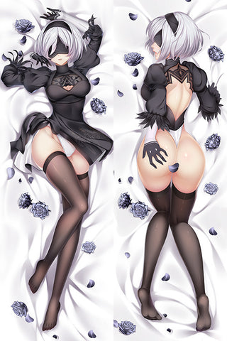 New-2B-Nier-Automata-Anime-Dakimakura-Japanese-Hugging-Body-Pillow-Cover-H3495-A