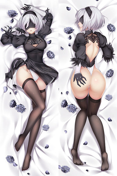 New-2B-Nier-Automata-Anime-Dakimakura-Japanese-Hugging-Body-Pillow-Cover-H3495-B