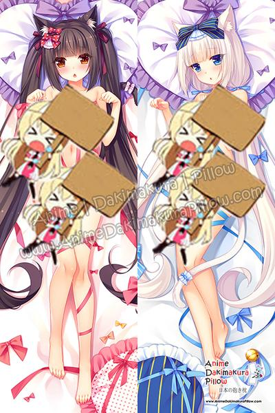 New-Chocola-and-Vanilla-Nekopara-Anime-Dakimakura-Japanese-Hugging-Body-Pillow-Cover-H3640-B