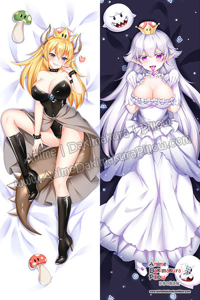 New Bowsette and Boosette Anime Dakimakura Japanese Hugging Body Pillow Cover H3880-B H3881-B
