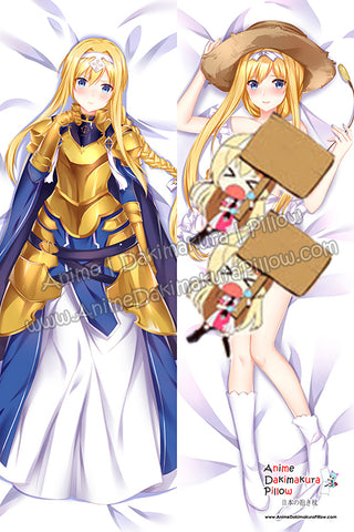 New Alice Zuberg - Sword Art Online Alicization Anime Dakimakura Japanese Hugging Body Pillow Cover H3883-B