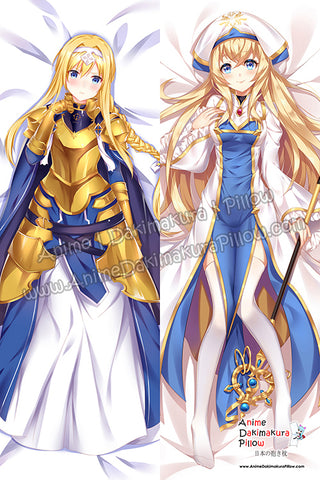 New Alice Zuberg - Sword Art Online Alicization and Priestess - Goblin Slayer Anime Dakimakura Japanese Hugging Body Pillow Cover H3883-B H3884-B