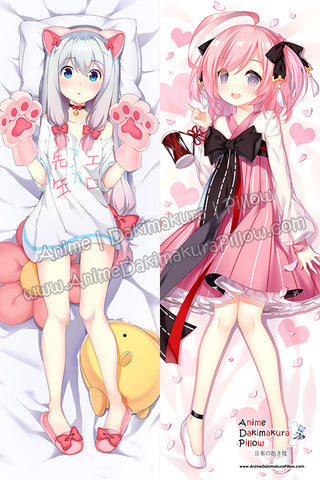 ADP Izumi Sagiri - Eromanga Sensei and Saratoga - Azur Lane Anime Dakimakura Japanese Hugging Body Pillow Cover H3949-B H3950-B