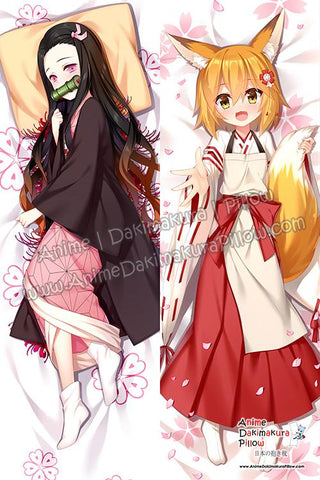 ADP-Nezuko-Kamado-Kimetsu-no-Yaiba-and-Senko-The-Helpful-Fox-Senko-san-Anime-Dakimakura-Japanese-Hugging-Body-Pillow-Cover-H3958-B-H3960-B