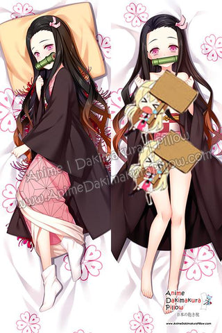 ADP-Nezuko-Kamado-Kimetsu-no-Yaiba-Anime-Dakimakura-Japanese-Hugging-Body-Pillow-Cover-H3958-B