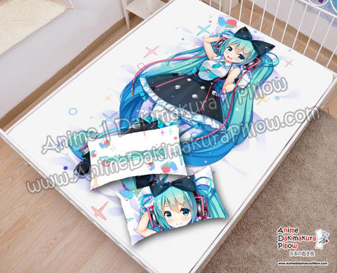 New-Hatsune-Miku--Vocaloid-Japanese-Anime-Bed-Blanket-or-Duvet-Cover-with-Pillow-Covers-H6000015-A