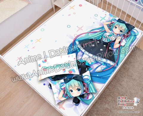 New-Hatsune-Miku--Vocaloid-Japanese-Anime-Bed-Blanket-or-Duvet-Cover-with-Pillow-Covers-H6000015-B