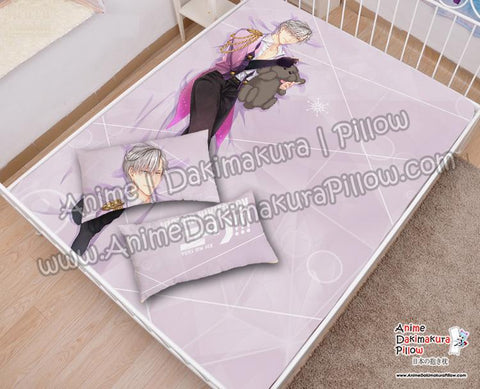 New-Viktor-Nikiforov--Yuri!!!-on-Ice-Japanese-Anime-Bed-Blanket-or-Duvet-Cover-with-Pillow-Covers-H6000039-B