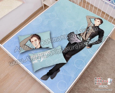 New-Yuri-Katsuki-Yuri!!!-on-Ice-Japanese-Anime-Bed-Blanket-or-Duvet-Cover-with-Pillow-Covers-H6000046-B