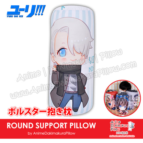 New-Viktor-Nikiforov-Yuri-on-Ice!!!-Male-Japanese-Anime-Comfort-Neck-and-Support-Mini-Round-Roll-Bolster-Dakimakura-Pillow-H800001