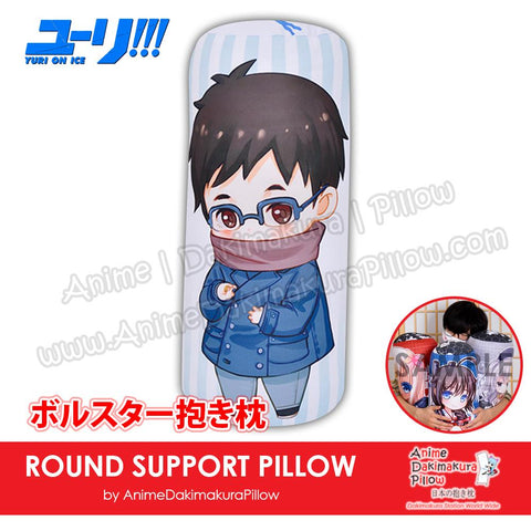 New-Yuuri-Katsuki-Yuri!!!-on-Ice!!!-Male-Japanese-Anime-Comfort-Neck-and-Support-Mini-Round-Roll-Bolster-Dakimakura-Pillow-H800002