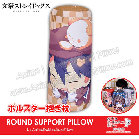 New-Ranpo-Edogawa-Bungou-Stray-Dogs-Male-Anime-Comfort-Neck-and-Support-Mini-Round-Roll-Bolster-Dakimakura-Pillow-H800020