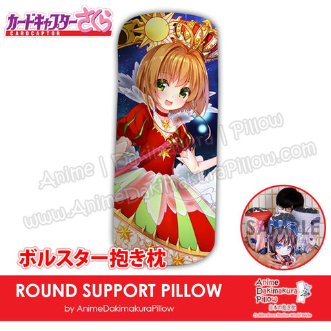 New-Sakura-Kinomoto-Card-Captor-Sakura-Japanese-Anime-Comfort-Neck-and-Support-Mini-Round-Roll-Bolster-Dakimakura-Pillow-H800022