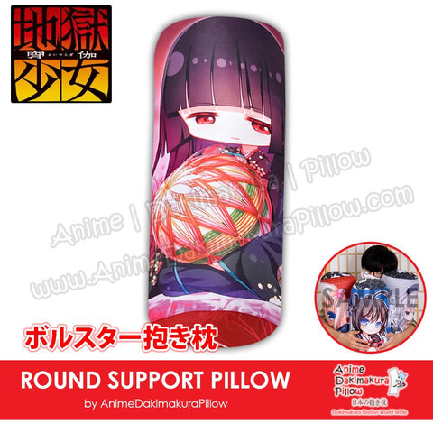 New-Ai-Enma-Hell-Girl-Japanese-Anime-Comfort-Neck-and-Support-Mini-Round-Roll-Bolster-Dakimakura-Pillow-H800074