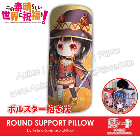 New-Megumin-Konosuba-Japanese-Anime-Comfort-Neck-and-Support-Mini-Round-Roll-Bolster-Dakimakura-Pillow-H800098