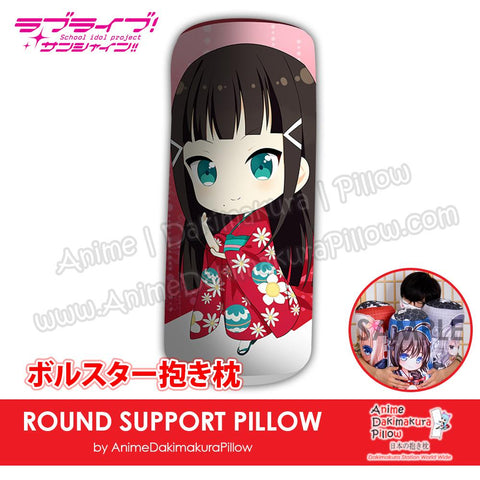 New-Dia-Kurosawa-Love-Live!-Sunshine!!-Japanese-Anime-Comfort-Neck-and-Support-Mini-Round-Roll-Bolster-Dakimakura-Pillow-H800125