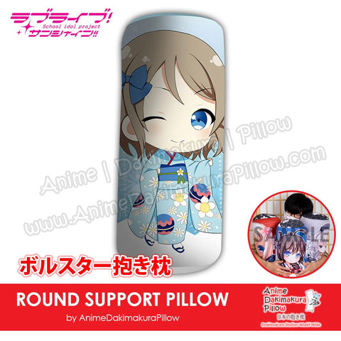 New-You-Watanabe-Love-Live!-Sunshine!!-Japanese-Anime-Comfort-Neck-and-Support-Mini-Round-Roll-Bolster-Dakimakura-Pillow-H800132