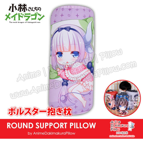 New-Kanna-Kamui-Miss-Kobayashi's-Dragon-Maid-Japanese-Anime-Comfort-Neck-and-Support-Mini-Round-Roll-Bolster-Dakimakura-Pillow-H800133