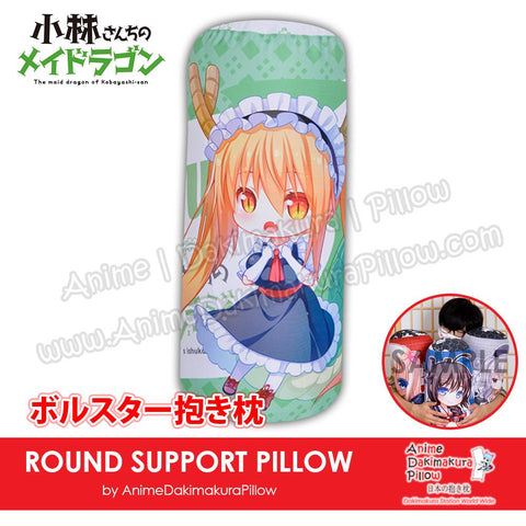 New-Tohru-Miss-Kobayashi's-Dragon-Maid-Japanese-Anime-Comfort-Neck-and-Support-Mini-Round-Roll-Bolster-Dakimakura-Pillow-H800134