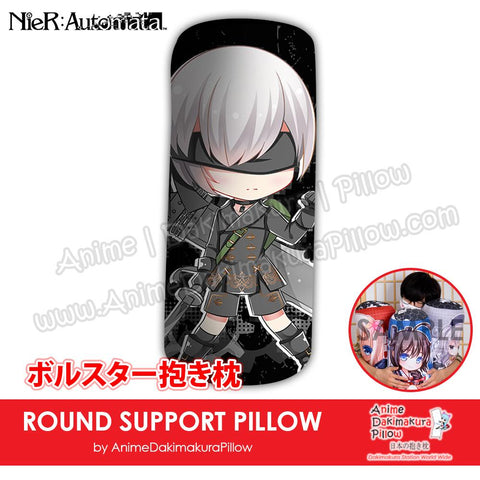 New-9S-NieR-Automata-Male-Japanese-Anime-Comfort-Neck-and-Support-Mini-Round-Roll-Bolster-Dakimakura-Pillow-H800145