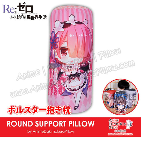 New-Ram-Re-Zero-Japanese-Anime-Comfort-Neck-and-Support-Mini-Round-Roll-Bolster-Dakimakura-Pillow-H800153