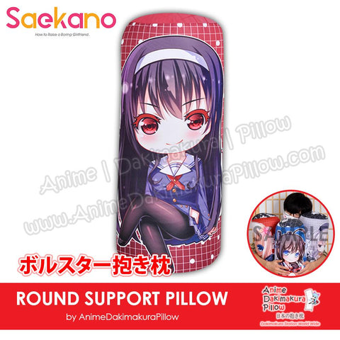 New-Utaha-Kasumigaoka-Saekano-How-to-Raise-a-Boring-Girlfriend-Japanese-Anime-Comfort-Neck-and-Support-Mini-Round-Roll-Bolster-Dakimakura-Pillow-H800156