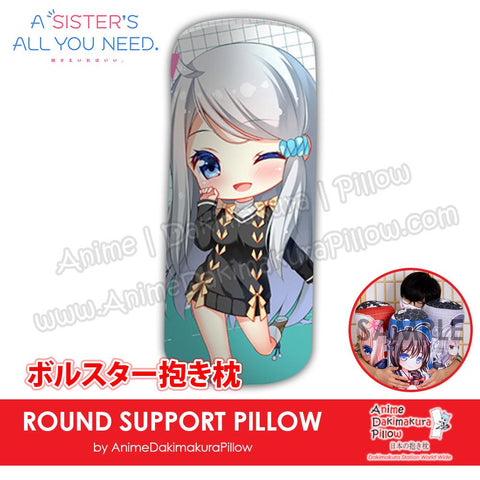 New-Nayuta-Kani-A-Sister's-All-You-Need-Japanese-Anime-Comfort-Neck-and-Support-Mini-Round-Roll-Bolster-Dakimakura-Pillow-H800158