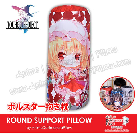 New-Flandre-Scarlet-Touhou-Project-Japanese-Anime-Comfort-Neck-and-Support-Mini-Round-Roll-Bolster-Dakimakura-Pillow-H800162