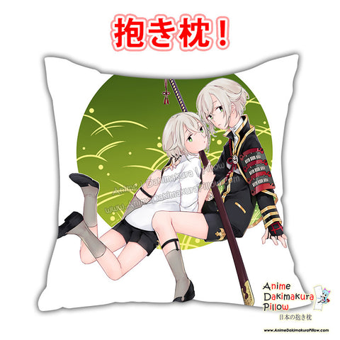 New Hotarumaru - Touken Ranbu Anime Dakimakura Square Pillow Cover Custom Designer Yamazaki Shyn ADC726 - Anime Dakimakura Pillow Shop | Fast, Free Shipping, Dakimakura Pillow & Cover shop, pillow For sale, Dakimakura Japan Store, Buy Custom Hugging Pillow Cover - 1