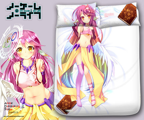 New Jibril - No Game No Life Japanese Anime Bed Blanket or Duvet Cover with Pillow Covers Blanket 2 - Anime Dakimakura Pillow Shop | Fast, Free Shipping, Dakimakura Pillow & Cover shop, pillow For sale, Dakimakura Japan Store, Buy Custom Hugging Pillow Cover - 1