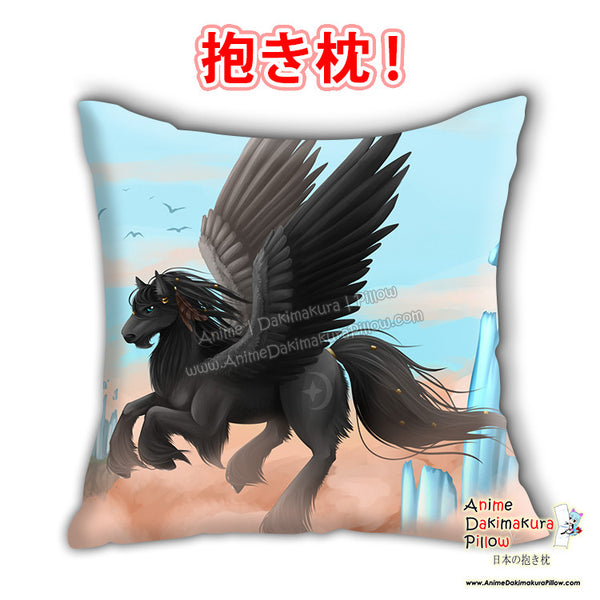 New Komikuu - Pegasusa Anime Dakimakura Japanese Square Pillow Cover Custom Designer Savanna E Reynolds ADC660