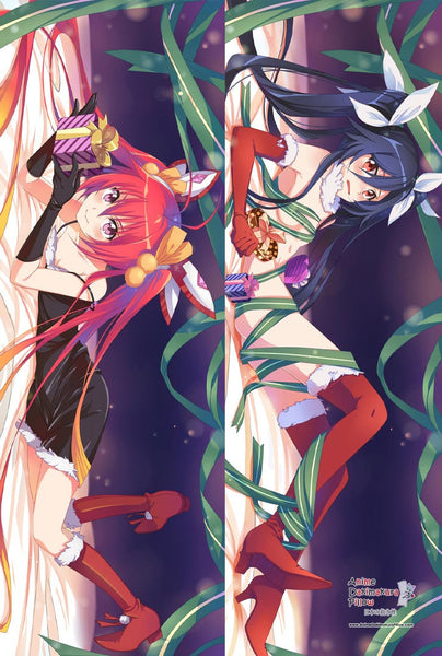 New Blue Ponytail and Red Ponytail Sided Anime Dakimakura Japanese Pillow Cover MGF 12085