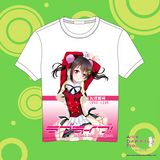 NEW Love Live Full Color Print Cartoon Anime Manga Short Sleeve Tshirt MGF 25 - Anime Dakimakura Pillow Shop | Fast, Free Shipping, Dakimakura Pillow & Cover shop, pillow For sale, Dakimakura Japan Store, Buy Custom Hugging Pillow Cover - 1
