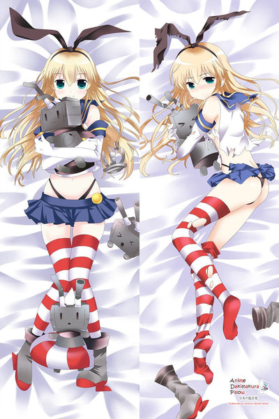New Shimakaze - Kantai Collection Anime Dakimakura Japanese Hugging Body Pillow Cover MGF-510030
