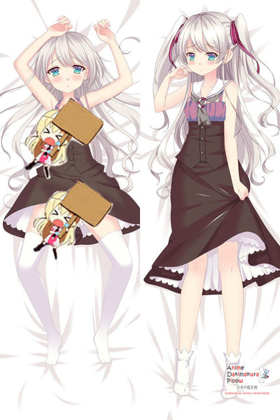New Kawaii White Haired Girl Anime Dakimakura Japanese Hugging Body Pillow Cover MGF-511006