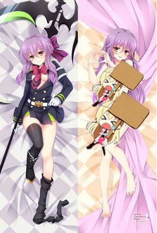 New Shinoa Hiragi - Owari no Seraph Anime Dakimakura Japanese Hugging Body Pillow Cover MGF-56004a - Anime Dakimakura Pillow Shop | Fast, Free Shipping, Dakimakura Pillow & Cover shop, pillow For sale, Dakimakura Japan Store, Buy Custom Hugging Pillow Cover - 1