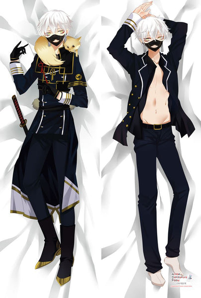 New Nakigitsune - Touken Ranbu Anime Dakimakura Japanese Hugging Body Pillow Cover Male MGF-56022