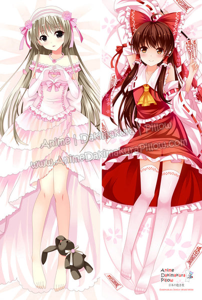 New Yosuga no Sora and Touhou Project Anime Dakimakura Japanese Hugging Body Pillow Cover ADP-63012 ADP-63025