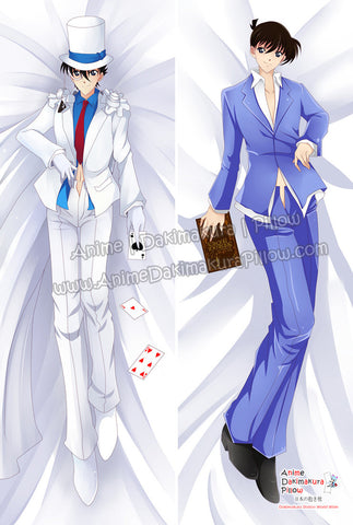 New Kaito Kid and Shinichi Kudo - Detective Conan Male Anime Dakimakura Japanese Hugging Body Pillow Cover ADP-63020 - Anime Dakimakura Pillow Shop | Fast, Free Shipping, Dakimakura Pillow & Cover shop, pillow For sale, Dakimakura Japan Store, Buy Custom Hugging Pillow Cover - 1